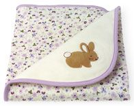 Gymboree Blanket - A Walk in the Woods Bunny Lavender Floral 2004