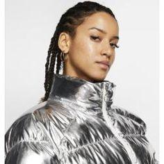 Nike x Olivia Kim Folien-Puffer-Jacke - Silver NikeNike