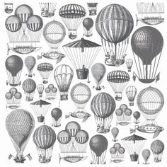 Hot Air Balloons Acetate Sheet - Periwinkle Collection - from Kaisercraft
