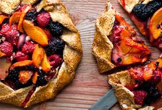 Mixed red fruit, apricot and hazelnut galette. Photo: Andrew Scrivani for The New York Times