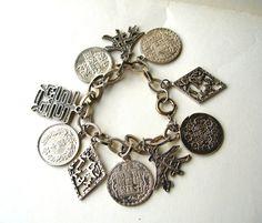 Vintage Oriental Charm Bracelet  Vintage by BohemianGypsyCaravan