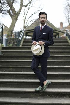 Blogger Matthew Zorpas wearing the Gucci 1953 Horsebit Loafer