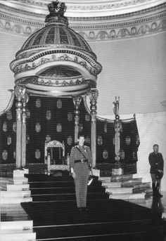HM King Michael I of Romania and marshall Ion Antonescu in the Throne Hall of… Michael I Of Romania, Romanian Royal Family, National Art Museum, Imperial Russia, Royal Palace, Kaiser, Bucharest, Queen Victoria, Present Day