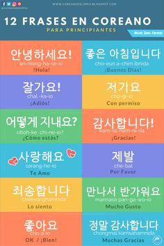 12 Frases en Coreano Para Principiantes.