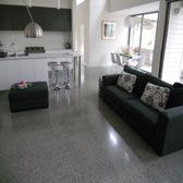 polished concrete floor: love.