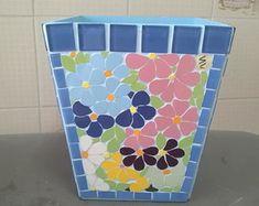 Cachepot em mosaico - tamanho médio