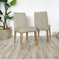 Buy elegant Modern Dining Chairs in soft linen. Fabric Dining Chairs with stylish detailing make a tasteful Dining Room Furniture addition. Linen Dining Chairs, Modern Dining Chairs, Dining Room Furniture, Cement Color, Solid Oak, Vintage Designs, Free Uk, Linen Fabric, Delivery