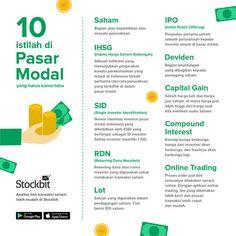 10 Istilah Di Pasar Modal Templat Brosur Ilmu Ekonomi Keuangan