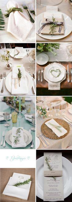 Alecrim na decoração do Casamento   http://blogdamariafernanda.com/alecrim-decoracao-casamento