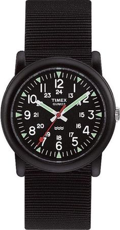 Mens Black Timex Core Camper Military Style Watch T18581