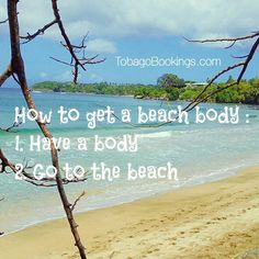 2 easy tips on how to get a beach body: 1. Have a body 2. Go to the beach Pictured: Grange Bay, Tobago #Tobago #Trinidad #TrinidadAndTobago #Caribbean #Island #Beach #GrangeBay #GrangeBayTobago #TobagoBookings #POTD #PictureOfTheDay #CaribbeanTravel #Travel #Vacation
