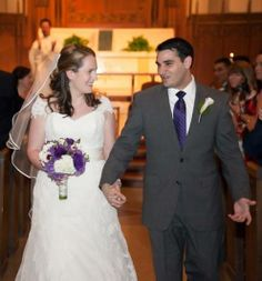 Caitlin and Bryan Rizzardi (both '06) met their freshmen year because they both lived on the first floor of Keyes. They became fast friends and began dating at the beginning of sophomore year. After dating for almost 10 years, they were married in August of 2013 at St. Ignatius. Photo credit: Molly Anne Photography
