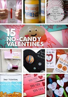 Lots of great candy-free Valentines for kids to bring to class.
