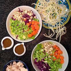 What's for dinner tonight? Asian Chicken Salad! #glutenfree #realfood #recipe #ontheblog #Austin360cooks #whatsfordinner #feedfeed @thefeedfeed #food #foodpic #foodporn #foodblogger #homecooking #f52grams #instafood #foodstagram #foodwinehealth #FWhealthy#yahoofood #huffposttaste #buzzfeedfood #EEEEEATS #eatwell #eathealthy #cleaneating #goodeats #organic #dairyfree #caseinfree #theweeklymenu #cookit http://theweeklymenubook.com/2015/10/13/asian-chicken-salad-glutenfree-caseinfree/