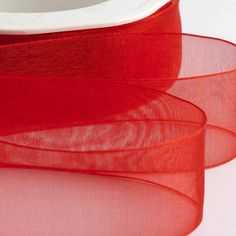 Our red organza ribbon is available in four different widths for your wedding invitations and wedding favours. Make Your Own Wedding Invitations, Burlap Lace, Organza Ribbon, Handmade Items, Handmade Gifts, Chair Covers, Flower Arrangements, Headbands, Favors
