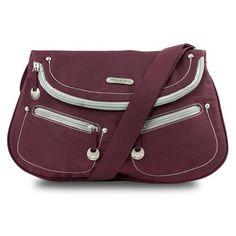Travelon Front Flap Shoulder Bag Bordeaux Twill -- For more information, visit image link.