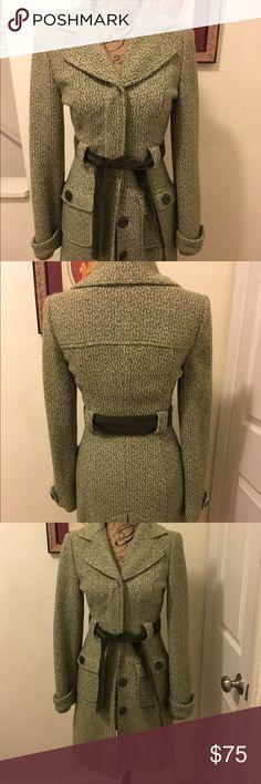 Beautiful Arden B winter coat Beautiful green wool Arben B coat. In perfect condition! Green velvet buttons and sash Arden B Jackets & Coats