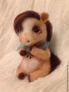 Toy animals, handmade.  Fair Masters - handmade Baby-horse.  Handmade.
