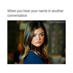 funny, pretty little liars, and pll image Preety Little Liars, Pretty Little Liars Quotes, Pll Logic, Pll Memes, Lol So True, Best Shows Ever, Gossip Girl, At Least, Funny