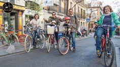 Geniales las bicis de Rent and Roll y las sillitas weeride en Madrid! Nos lo pasamos genial, y los niños ni os cuento!!!