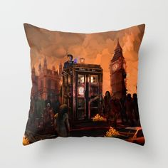 10th Doctor who trapped in the zombie land THROW PILLOW COVER #throwpillow #Pillow #PillowCase #PillowCover #CostumPillow #Cushion #CushionCase #PersonalizedPillow #dontblink #statue #angel #spring #winter #fall #autumn #davidtennant #10thdoctor #fog #mist #doctorwho #tardis #starrynight #vangogh #halloween #summer #aztec #mayan #mayansimbols #dreamcatcher #zombie