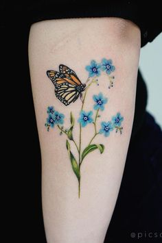 36 Most Beautiful Flower Tattoo Designs to Blow Your Mind - Page 29 of 36 - belikeanactress. com - tattoo designs;small tattoos for women;cute tattoos s - Japanese Tattoo Designs, Japanese Tattoo Art, Flower Tattoo Designs, Butterfly On Flower Tattoo, White Butterfly, Element Tattoo, Bodysuit Tattoos, Tattoos For Women Small, Small Tattoos