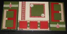 Christmas Layout with Flip Flaps