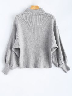 GET $50 NOW | Join Zaful: Get YOUR $50 NOW!http://m.zaful.com/puff-sleeve-mock-neck-sweater-p_222198.html?seid=2880232zf222198