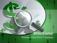 Search Dollar Future PowerPoint Template 0510 #PowerPoint #Templates #Themes #Background