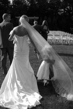 Bride And flower girl pic.