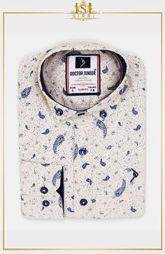 Doctor Junior Boys Slim fit Paisley Patterned Beige Smart Shirt - My Website 2020 Paisley Pattern, Paisley Print, Suits For Sale, Boys Suits, Slim Fit, Neue Trends, Printed Shirts, Kids Outfits, Fitness