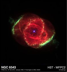 Hubble observations over the past 2 decades have revealed an huge complexity and diversity of structure in planetary nebulae. This is an X-ray/optical composite image of the Cat's Eye Nebula (NGC 6543). Image via HST'S Greatest Hit