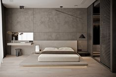 Modern or contemporary Bedroom designs are generally inexpensive and quite easy to create. Modern Luxury Bedroom, Luxury Bedroom Design, Master Bedroom Interior, Bedroom Closet Design, Modern Master Bedroom, Home Room Design, Luxurious Bedrooms, Home Decor Bedroom, Home Interior Design