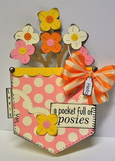 a pocket full of posies : Gallery : A Cherry On Top  POCKET SHAPED CARD