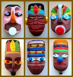 Ideas máscaras por Vane