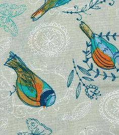 Keepsake Calico™ Cotton Fabric-Chasing Birds On Gray