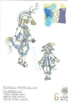 Some beautiful costume renderings from Eduardo Sicangco, set and costume designer on Cinderella!