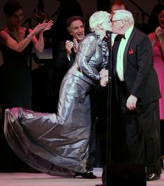 Angela Lansbury & Len Cariou at Tribute to Stephen Sondheim - ADORABLE!!!!