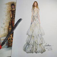 """10.8k Likes, 168 Comments - Eris Tran (@eris_tran) on Instagram: """"Butterfly  dress! Why not?? #sketch #sketching #drawing #draw #fashion #fashionsketching…"""""""