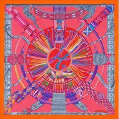 Hermes Ceintures et Liens Hermes silk shawl silk twill giant plume scarf…