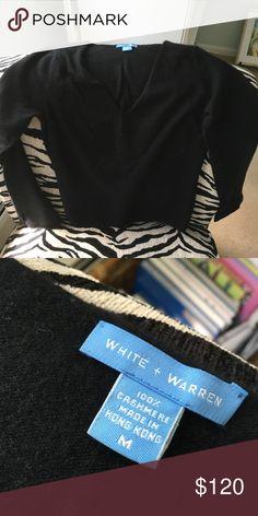 White + warren cashmere black v neck sweater Pristine condition, luxury cashmere Warren + white Sweaters V-Necks