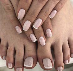 Faded french nails black fun french nail tips designs at h Shellac Nails, Nude Nails, Manicure And Pedicure, My Nails, Nail Polish, Prom Nails, Wedding Nails, Nail Art Vernis, Gel Nails French