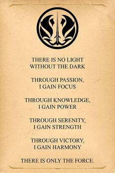 "The ""Official"" Gray Jedi Code"