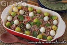 Que tal esta receita de Tabule Vegetariano para o #almoço? É deliciosa, saudável, leve e mega fácil de preparar.  #Receita aqui: http://www.gulosoesaudavel.com.br/2016/08/09/tabule-vegetariano/