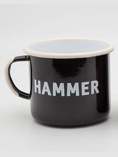 Enamel Mug Black – Hammer Store Museum Store b22219f0699