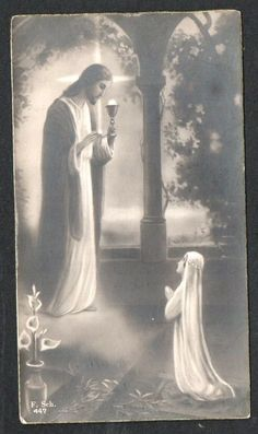 Vintage Holy Cards, Lady Of Fatima, Holy Quotes, Heart Of Jesus, Jesus Pictures, Catholic Art, Sacred Heart, Demons, Heavenly