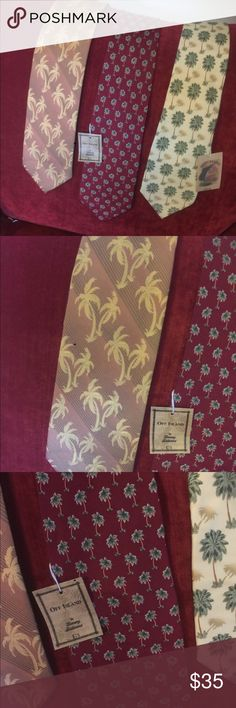 3 NWT Tommy Bahama neckties 3 NWT Tommy Bahama Ties .Sll have a palm tree theme.2 still have the tags attached. Tommy Bahama Accessories Ties
