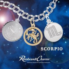 Zodiac Charms from Rembrandt make a great gift or stocking stuffer!