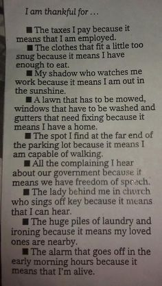 It's about perspective