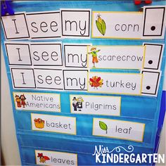 Word Work Center. Change out with monthly vocabulary. Also has matching individual sheets for seat work